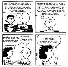 Ragionamento che non fa una piega e che vediamo ogni giorno ovunque..... forse per questo non riesce a farmi ridere :)  #peanuts, #linus, #schutz, #striscia, #fumetti, #comics, #charliebrown, #lucy, #italiano,