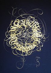 Calligraphy - gold on black by Claudio Gil