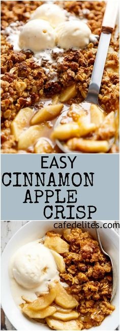 Easy Cinnamon Apple Crisp is absolutely foolproof! A juicy and jammy apple pie f Recipes The post Easy Cinnamon Apple Crisp is absolutely foolproof! A juicy and jammy apple pie f appeared first on Dessert Park. Apple Crisp With Oatmeal, Apple Crisp Topping, Best Apple Crisp Recipe, Easy Apple Crumble, Vegan Apple Crisp, Caramel Apple Crisp, Apple Crisp Easy, Apple Crisp Recipes, Apple Crisp Pie