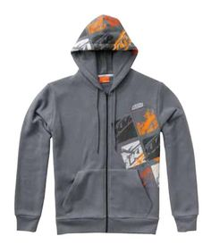KTM SQUARES HOODED SWEATJACKET from ktmpartsdirect.com / TEAM 2 RACING