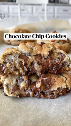 Delicious Cookie Recipes, Fun Baking Recipes, Yummy Food, Bakery Recipes, Best Cookie Recipes, Healthy Food, Chewy Sugar Cookies, Yummy Cookies, Cookies Et Biscuits