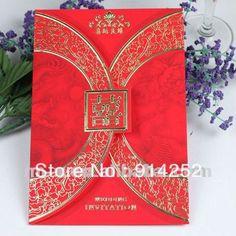 Chinese wedding invitation card nico meng wedding pinterest tc047 traditional chinese wedding invitation card models stopboris Images