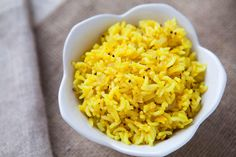 Aromatic basmati rice, cooked with onions and flavored with cloves, cinnamon, cardamom, cumin, mustard seed, chili and turmeric. Delicious!!! And healthy too. Perfect with curry and Indian dishes. #IndianFood #Rice