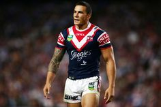 Sonny Bill Williams of the Roosters looks on during the round six NRL match between the Sydney Roosters and the Canterbury Bulldogs at Allianz Stadium on April 12, 2013 in Sydney, Australia.