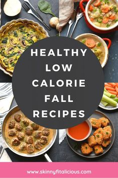 Healthy Low Calorie Fall Recipes for breakfast, lunch, dinner and snacks! #healthy #lowcalorie #fall #recipes #glutenfree Low Calorie Breakfast, Healthy Low Calorie Meals, Low Calorie Recipes, Healthy Eating, Gluten Free Recipes For Breakfast, Healthy Gluten Free Recipes, Free Breakfast, Healthy Pumpkin, Healthy Soup