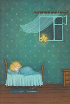 Sweet dreams, little one. The stars shall watch over you. Adorable Petite Fille, Good Night Moon, Nighty Night, Moon Art, Children's Book Illustration, Whimsical Art, Little Star, Stars And Moon, Sweet Dreams