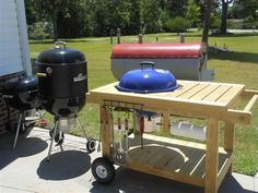build a kettle grill table weber grill station by. Black Bedroom Furniture Sets. Home Design Ideas