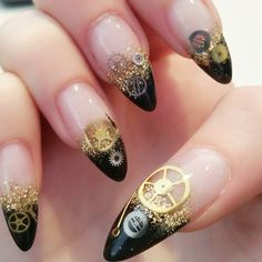 Polish and paws nail art clock steampunk nails nail polish steampunk nails i want for my toes prinsesfo Gallery