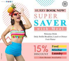 Chanalai Super Saver with Meal Package Book Now at Chanalai Hillside Resort, Kar. Karon Beach Phuket, Patong Beach, Welcome Drink, Super Saver, Breakfast Buffet, Lunch, Meals, Dinner, Drinks
