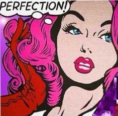 Pink hair Perfection! pop art: