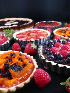 Medieval Fruit Tarts- blueberry, strawberry, apricot, cherry