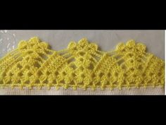 PUNTILLA NUM - 63 - YouTube Crochet Edging Patterns, Crochet Borders, Crochet Squares, Love Crochet, Crochet Lace, Crochet Projects, Diy And Crafts, Lily, Wool