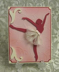 Stamp-n-Design: Ballerina Silhouette card