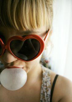 heart-shaped sunglasses bubble gum.
