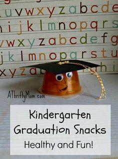 kindergarten graduation snacks ~ healthy and fun, #healthysnacks, #easysnacks, #kindergarten, #graduationsnack, #graduation, #easycrafts, #easysnacks