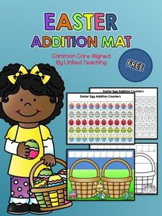 Children enjoy working with story mats representing different situations that are familiar to them. This packet contains one story mat for exploring the concept of addition to 10 with an Easter theme.   The story mat contains a number line at the top to assist children in exploring addition to 10 with manipulatives such as the included Easter eggs or Unifix cubes.