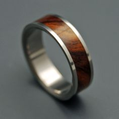 Minter + Richter | Wooden Wedding Rings - Desert Rose | Titanium Rings | Minter + Richter