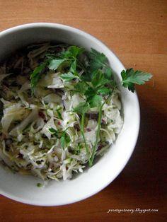Proste  Potrawy: Surówka z zielonym ogórkiem