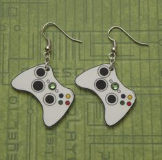 GIRL GAMER Xbox 360 Video Games Controller Earrings by PlayBox, £5.50