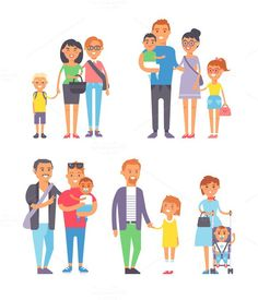 Different family vector. Human Icons. $5.00