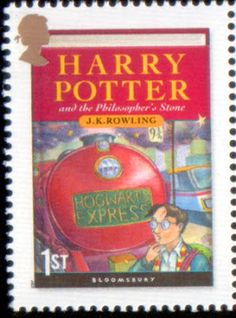Harry Potter and the Philosophers Stone - Literary Stamps: Rowling, J. Lord Voldemort, Hogwarts, Harry Potter Props, Hp Book, Postage Stamp Art, Stamp Collecting, Mail Art, My Stamp, Philosophers Stone