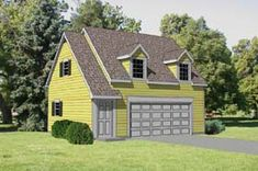 Garage Plan 94345 - 2 Car Garage Apartment Plan with 570 Sq Ft, 1 Bed, 1 Bath Cottage Style House Plans, Southern House Plans, Country House Plans, Small House Plans, House Floor Plans, Garage Apartment Floor Plans, Garage Apartments, Garage Plans, Garage Ideas
