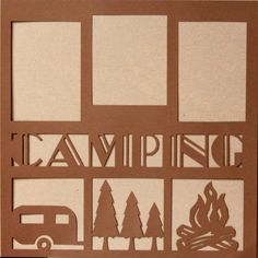"""Die-Cut Cardstock Camping 11.50"""" x 11.50"""" Scrapbook Page Overlay is available at Scrapbookfare."""