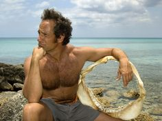 Just closing my eyes and wishin' so hard that I could BE that shark jaw Mike Rowe's cradling near his hairy, burly chest.