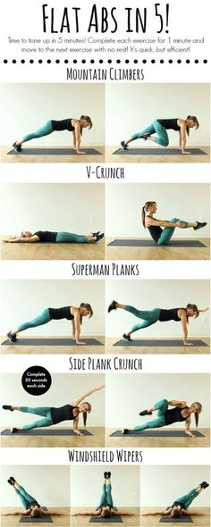 Flat abs in 5 minutes - great idea for ab workout! Flat abs in 5 minutes – great idea for ab workout! Flat abs in 5 minutes – great idea for ab workout! Fitness Workouts, Sport Fitness, Body Fitness, At Home Workouts, Fitness Motivation, Health Fitness, Short Workouts, Fitness Plan, Fitness Equipment