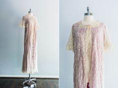 Rare Edwardian Valenciennes Lace Night by ShopGossamer on Etsy, $538.00