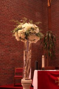 Full white altar pieces with birch poles November Wedding, Our Wedding, Wedding Stuff, Colour Schemes, Beautiful Bride, Altar, Different Colors, Whimsical, Table Decorations