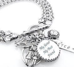 Sister Bracelet, Jewelry for Sister, Sister Quote Bracelet, Sister's Gift - Blackberry Designs Jewelry