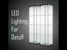 If you use Ikea Detolf to display your toys, you should probably see this! Simple LED to brighten your awesome toys collection. Ikea Glass Display Cabinet, Ikea Display Case, Display Cabinets Ikea, Display Cabinet Lighting, Glass Kitchen Cabinet Doors, Glass Display Case, Display Shelves, Glass Door, Glass Shelves