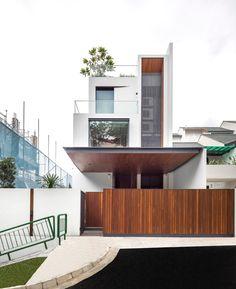 풍부한 공간감과 따뜻한 재료의 질감이 머무는 주택 (출처 Juhwan Moon)