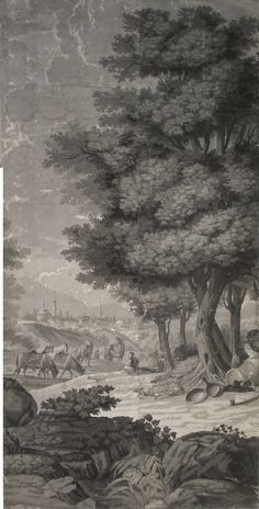 21 Wallpaper Panels, by Joseph Dufour Et Cie, After Comte de Choiseul-Gouffier | From a unique collection of antique and modern wallpaper at https://www.1stdibs.com/furniture/wall-decorations/wallpaper/