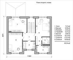 План второго этажа двухэтажного дома с двумя эркерами House Layouts, Floor Plans, Projects, Log Projects, Blue Prints, House Floor Plans, Floor Plan Drawing