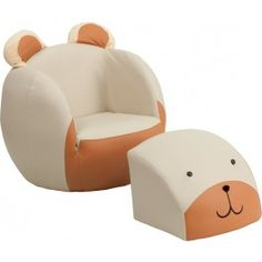 Kids Bear Chair And Footstool
