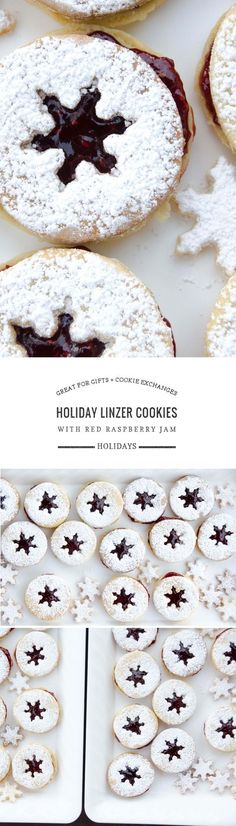 These holiday linzer cookies are easy to bake and to decorate. They're also delicious! Great to make with kids, to give as gifts + for cookie exchanges.