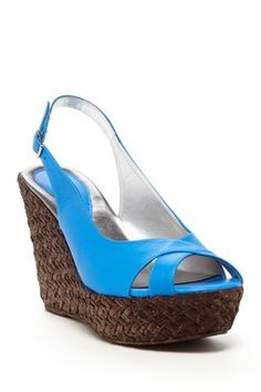 Jaden Wedge Slingback....saw these in tortoise shell too....not sure how I feel about that..