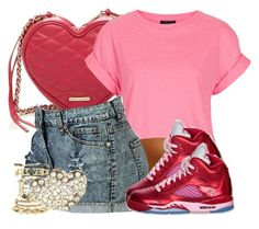 """""""Happy Valentine's Day"""" by jayjay-x0 ❤ liked on Polyvore featuring Rebecca Minkoff, Topshop and Charlotte Russe"""
