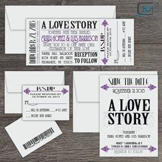 Vintage Theater Wedding Invitation Collection  by C2MiamiByYanet, $15.00