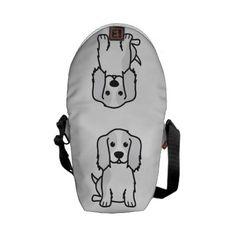 Cavalier King Charles Spaniel Dog Cartoon Courier Bag