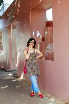 1da5f6490 How to Wear a Slip Dress over Jeans - A Vintage Splendor Shares her Tips