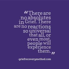Unresolved grief is everywhere.