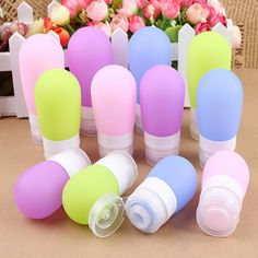 80ml Silicone Refillable Bottles Portable small sample containers Mini Traveler perfume bottles for Shampoo Bath A2 #Affiliate