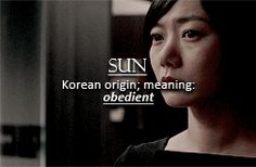 "Sense8 character name meanings: Sun. I read, that in Korean, it can also mean ""goodness,"" which I think is more fitting for her true personality."