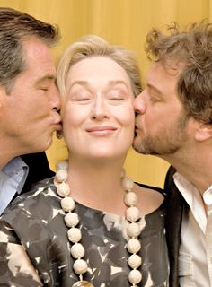 With Pierce Brosnan and Colin Firth