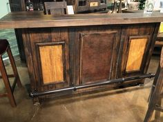 Walnut Ridge is a large Bar with Storage. Behind the Bar has dra. Colorful Furniture, Unique Furniture, Cheap Furniture, Kitchen Furniture, Rustic Furniture, Bedroom Furniture, Furniture Deals, Furniture Stores, Modern Bar Cabinet
