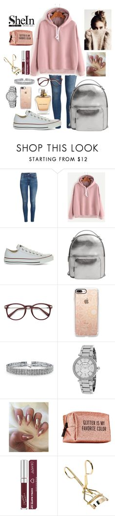 """""""SheIn 3 - Pink Hooded Sweatshirt [3]"""" by daniela-dias01 ❤ liked on Polyvore featuring H&M, WithChic, Converse, MANGO, EyeBuyDirect.com, Casetify, Bling Jewelry, Michael Kors and Pinch Provisions"""