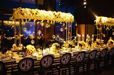 Black & yellow weddings/reception on Pinterest | Yellow Weddings ...